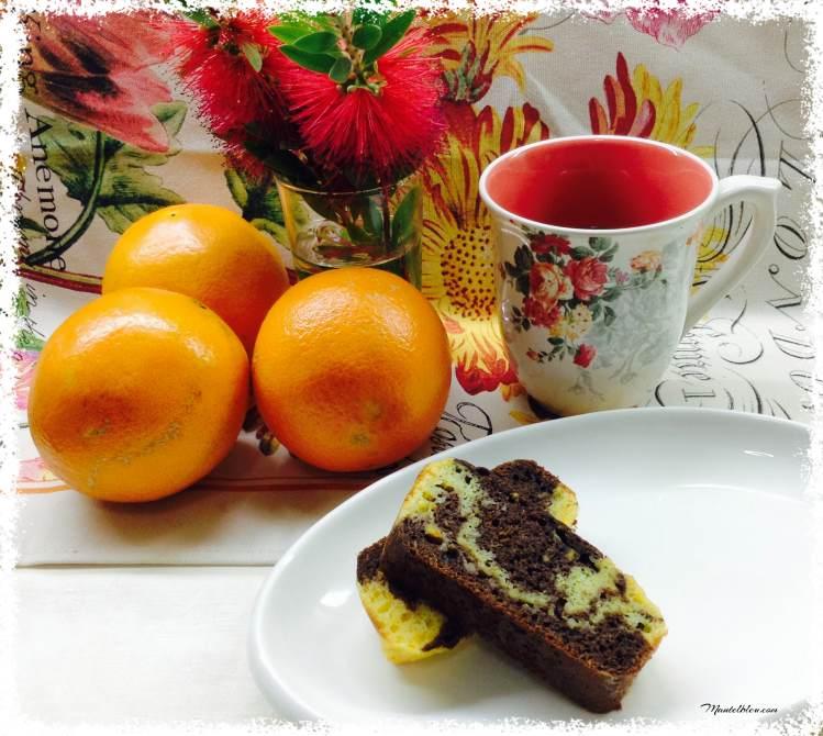 Bizcocho de naranjas con chocolate 3