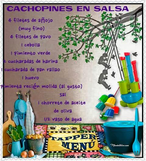 Cachopines en salsa tupper etiqueta