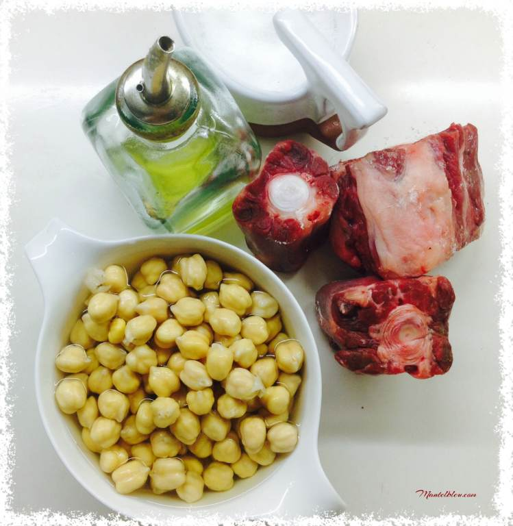 Garbanzos con rabo Ingredientes