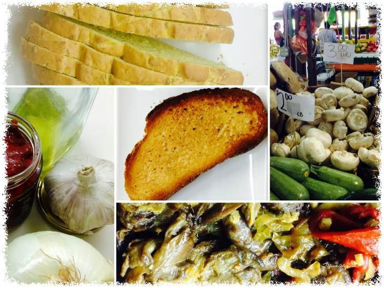 Tosta de setas, pimientos y parmesano Ingredientes_Fotor