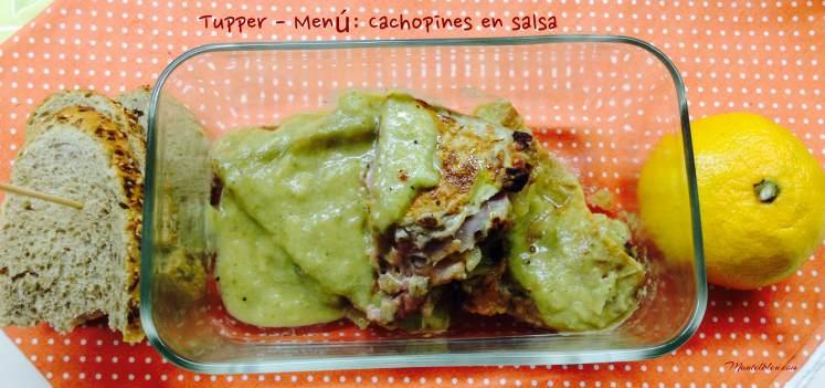 Tupper Menú Cachopines en salsa