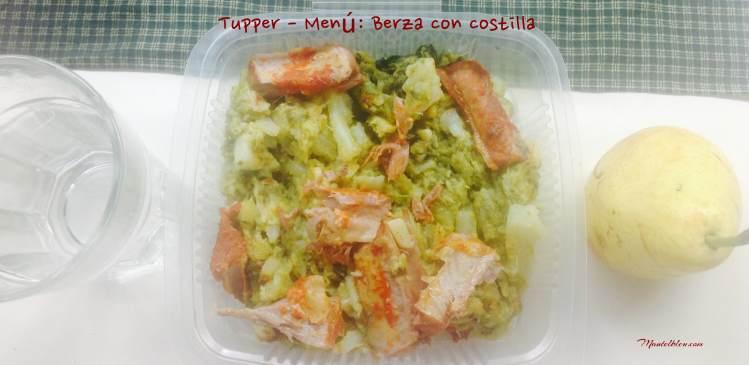 Tupper Menñu Berza con costillas