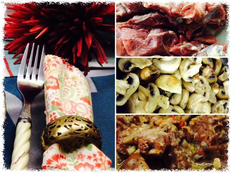 Carne guisada con champiñones elaboración_Fotor