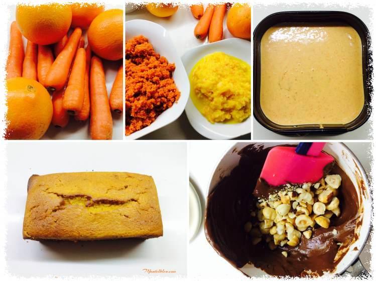 Bizcocho de naranja y zanahorias elaboración_Fotor
