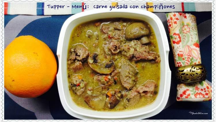 Tupper Menú Carne guisada con chapiñones