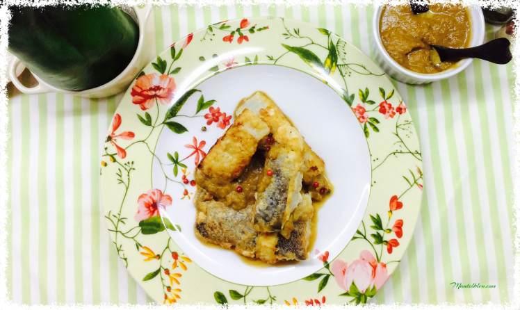 Bacalao rebozado con crema de pimiento verde 3