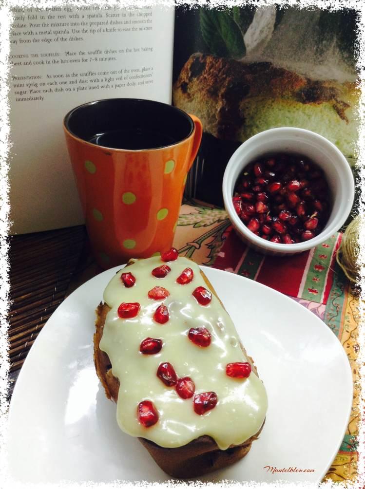 Bizcocho con granada y chocolate blanco 5