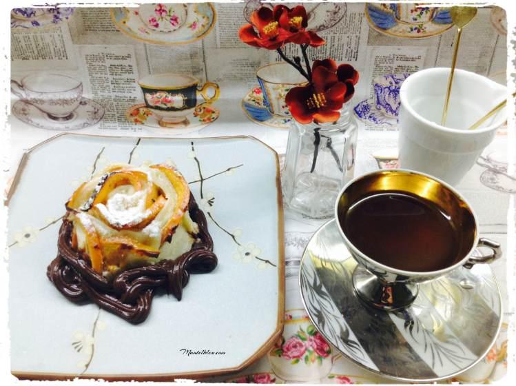 Pasteles crujientes de caqui con chocolate 1