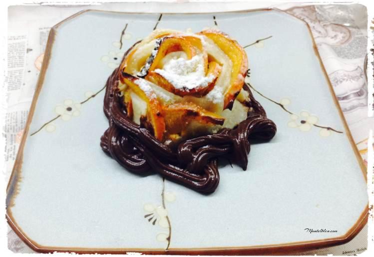 Pastelitos crujientes de caqui con chocolate 2