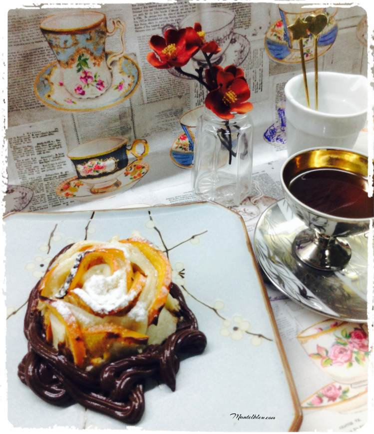 Pastelitos crujientes de caqui con chocolate 3