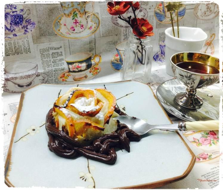 Pastelitos crujientes de caqui y chocolate 5