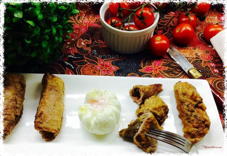 Rollitos de carne rebozada con pimiento verde 1