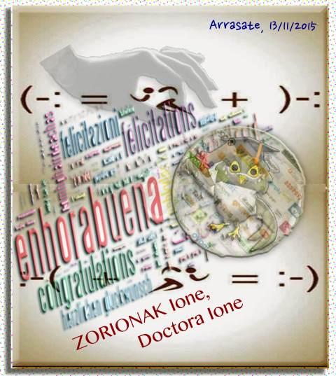 Zoriona Ione, doctora Ione