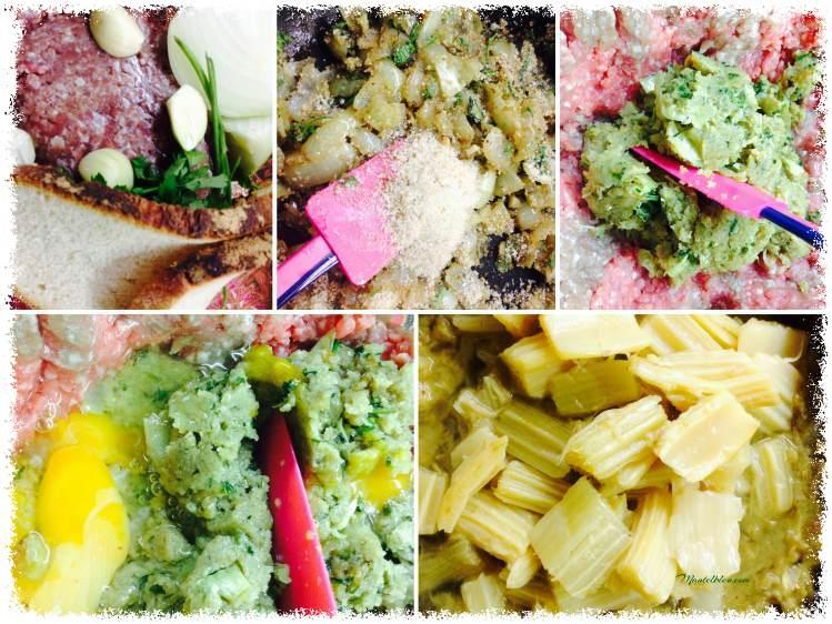 Cardo con albóndigas en salsa elaboración_Fotor