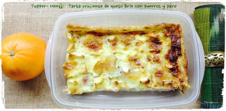 Tupper menú tarta crujiente de queso Brie