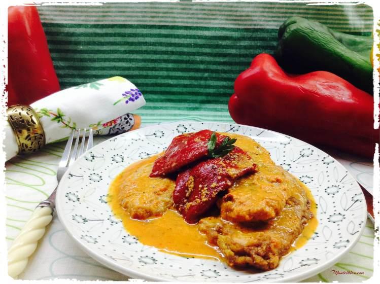 Lomo con pimientos del piquillo en salsa roja 1