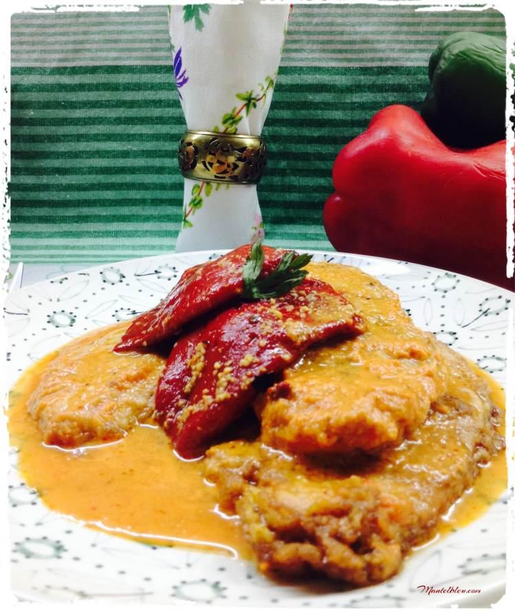 Lomo con pimientos del piquillo en salsa roja 3