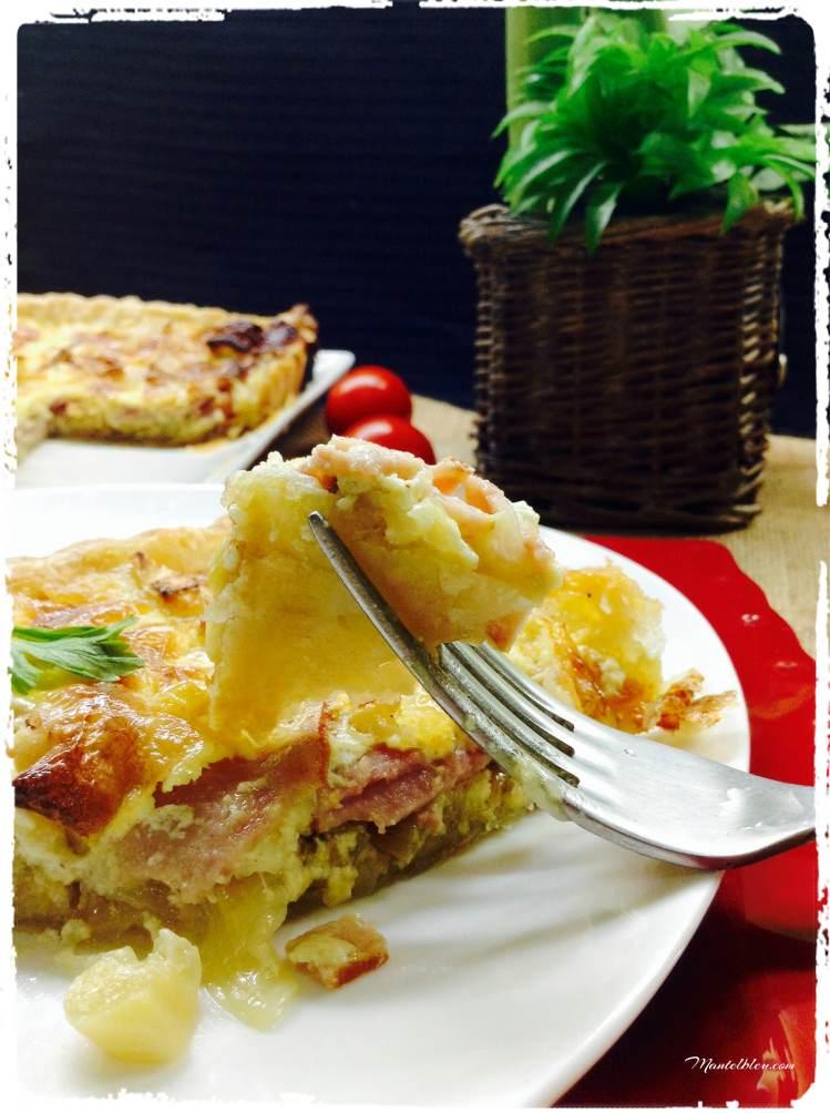 Tarta crujiente de queso Brie, puerro y pavo 6