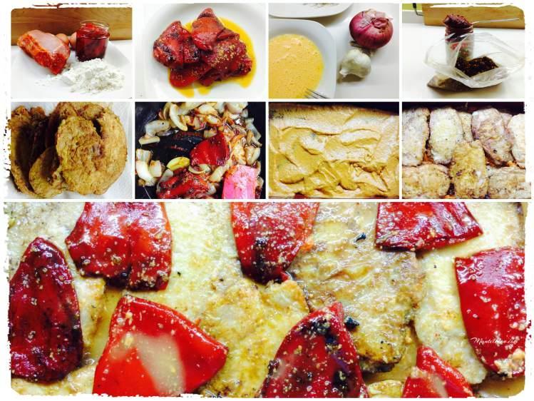 Lomo con pimientos del piquillo en salsa roja Elaboración _Fotor