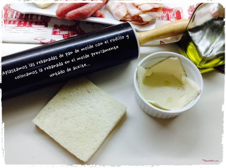 Tartaletas de salchichas y huevo elaboración