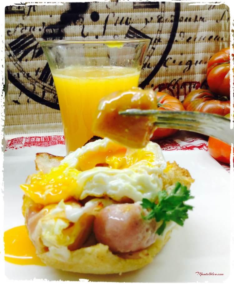Tartaleta de huevo con salchicha 3