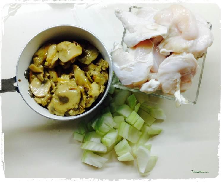 Kokotxas de bacalao con crema de hongos