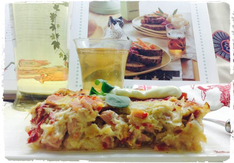 Pastel de lomo, puerro y pimiento 2