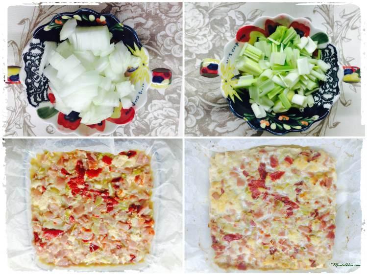 Pastel de lomo, puerro y pimiento Elaboración_Fotor