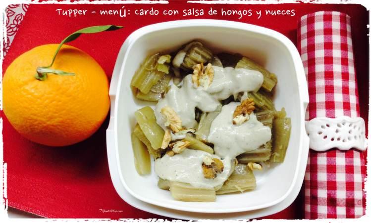 Cardo con salsa de hongos tupper menú
