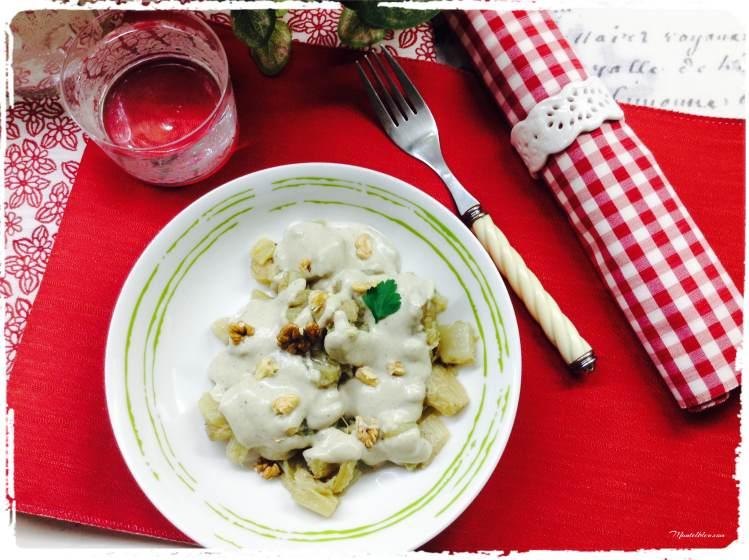 Cardo con salsa de hongos y nueces 4