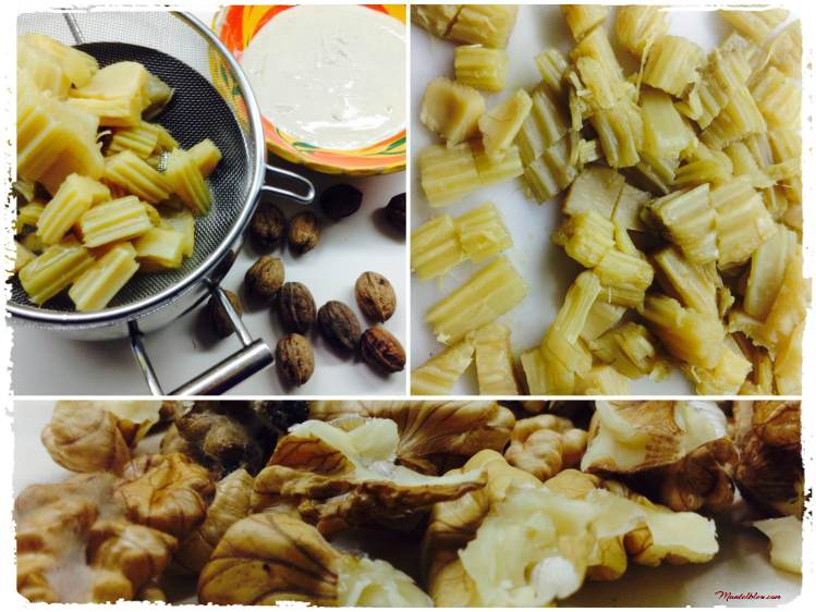 Cardo con salsa de hongos y nueces ingredientes_Fotor