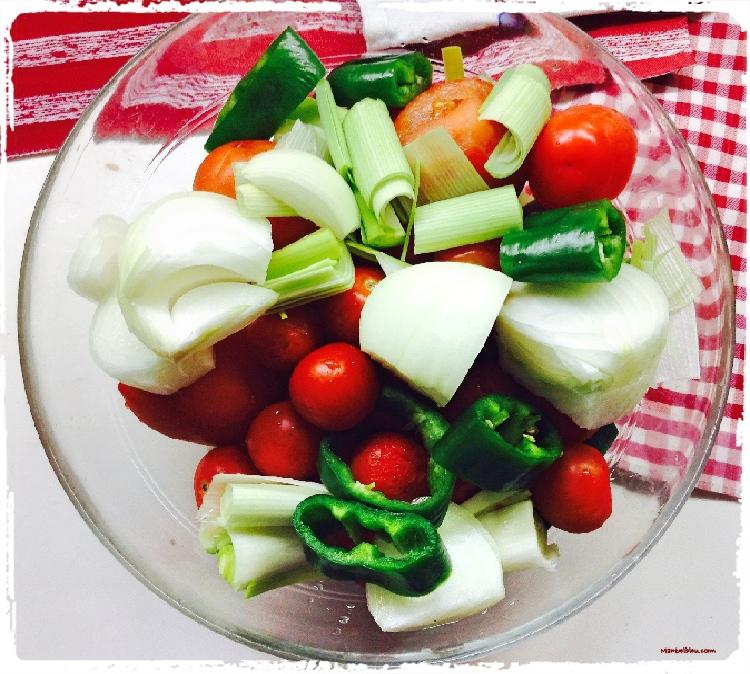 Crema de verduras con langostinos Ingredientes