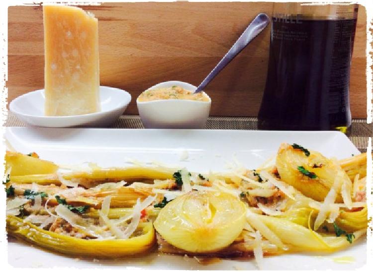 Puerros y cebollitas francesas con lascas de Parmesano_Fotor