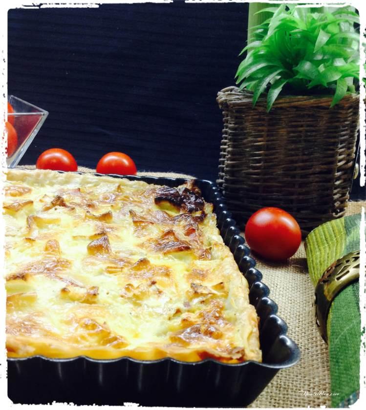 Tarta-crujiente-de-queso-Brie-puerros-y-pavo-4
