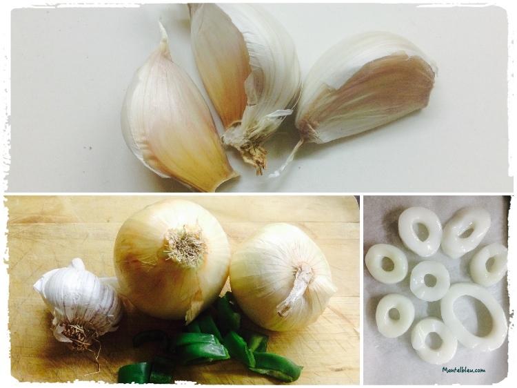 huevos en salsa verde con aritos de calamar ingredientes_Fotor