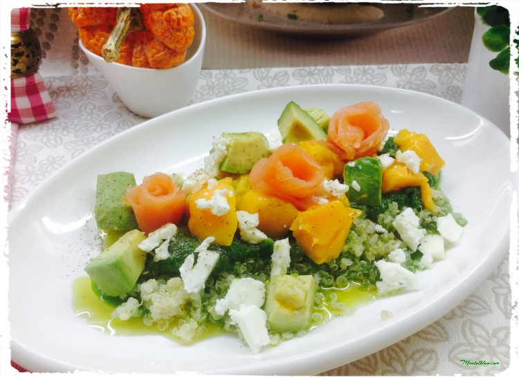 Ensalada de quinoa con salmón 1