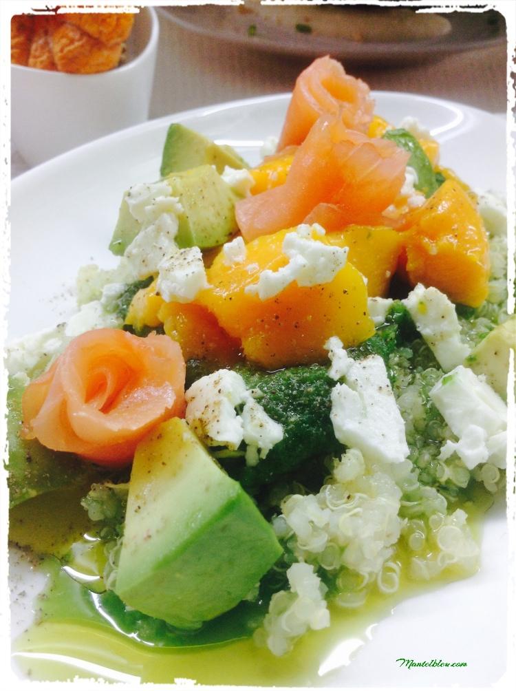 Ensalada de quinoa con salmón 4