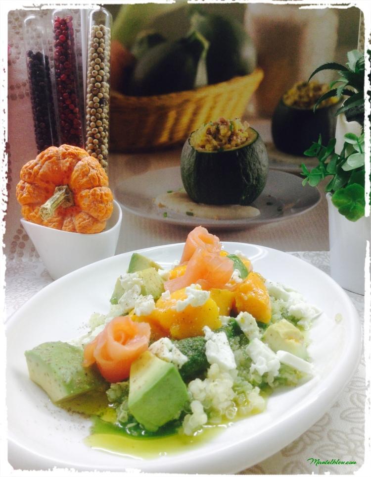 Ensalada de quinoa con salmón 2