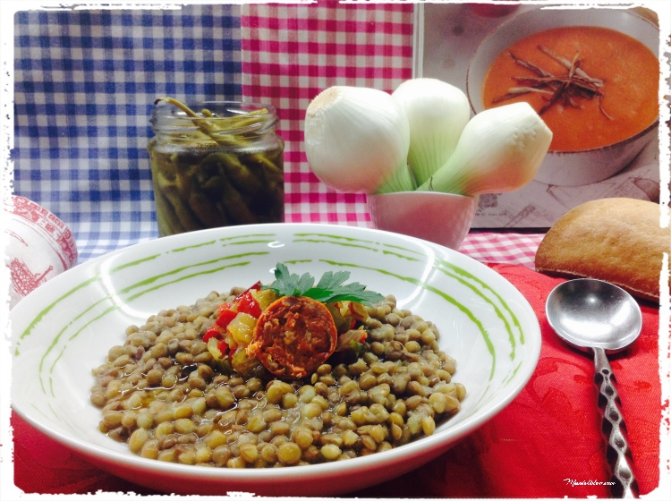 Lentejas con sofrito de verduras y chorizo 1