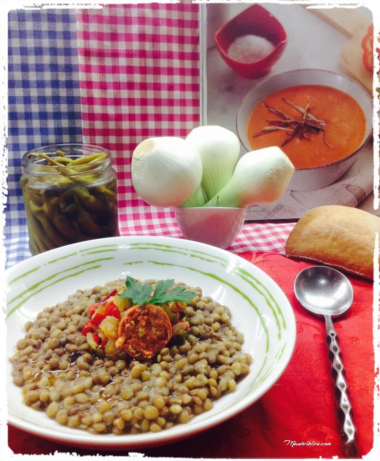Lentejas con sofrito de verduras y chorizo 2