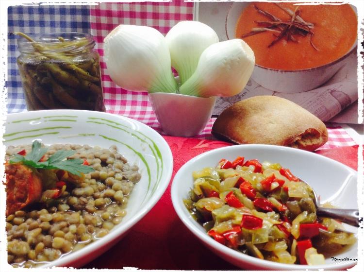 Lentejas con sofrito de verduras y chorizo 3