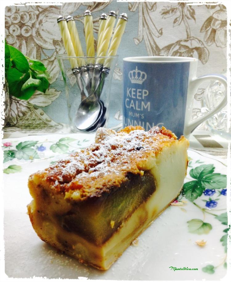 Quesada crujiente con pera caramelizada 2