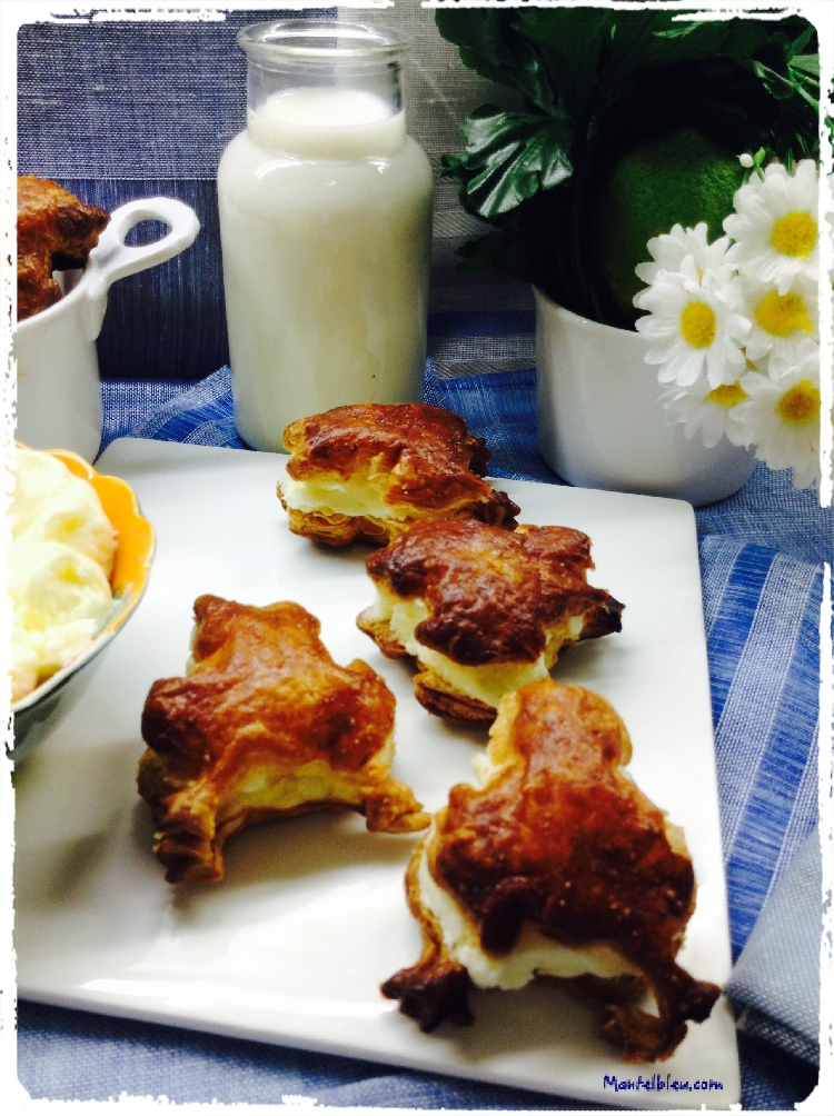 Ranitas de hojaldre rellenas de crema de mantequilla 5
