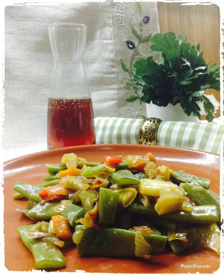 Vainas con sofrito de verduras 2