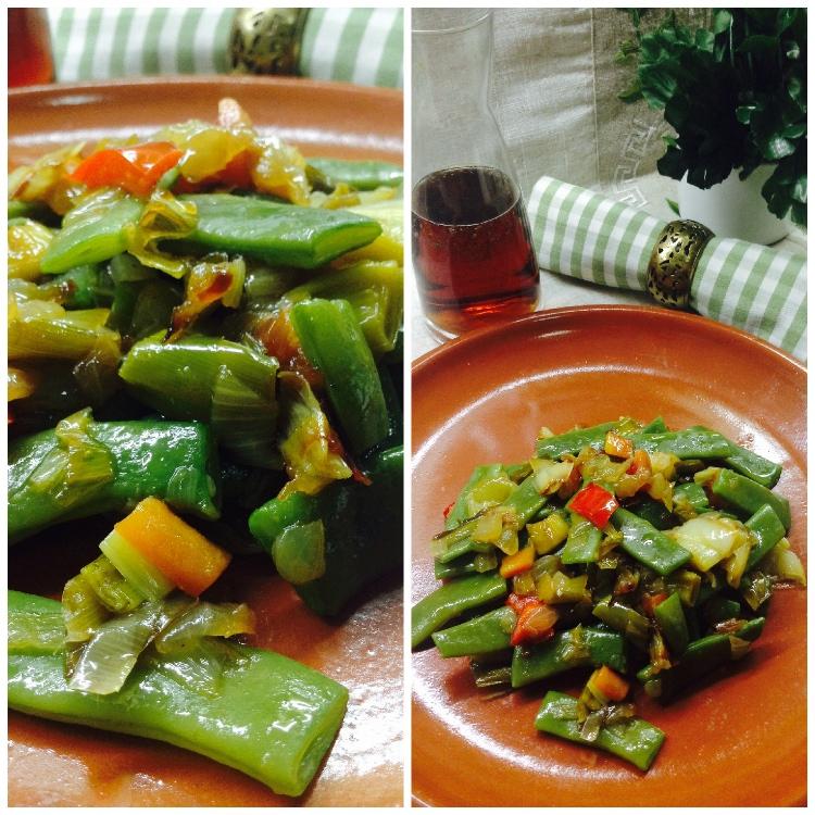 Vainas con sofrito de verduras 3