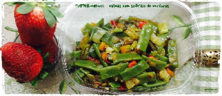 Tupper Menú Vainas con sofrito de verduras