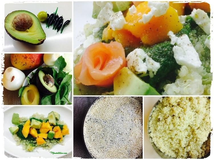 Ensalada de quinoa con salmón elaboración_Fotor