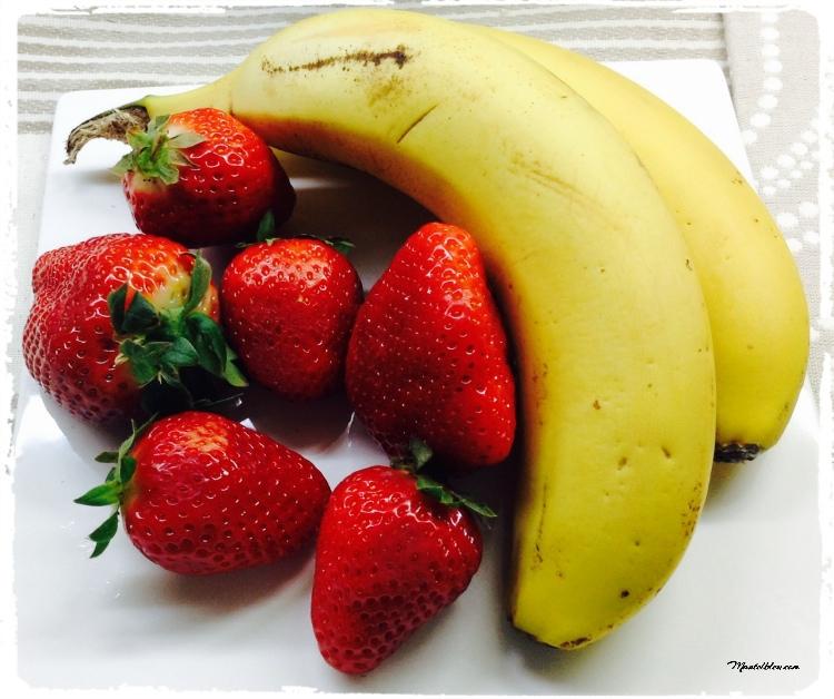 Fresas y plátanos