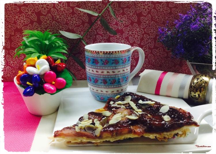 Tarta Tatín con fresas y platano 2