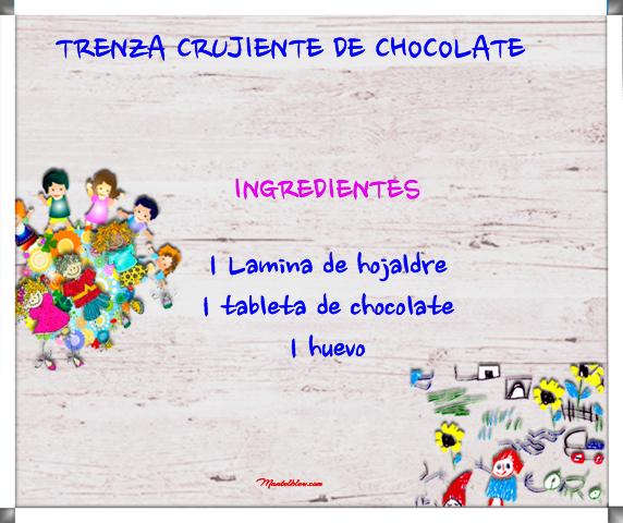 Trenza crujiente de chocolate etiqueta